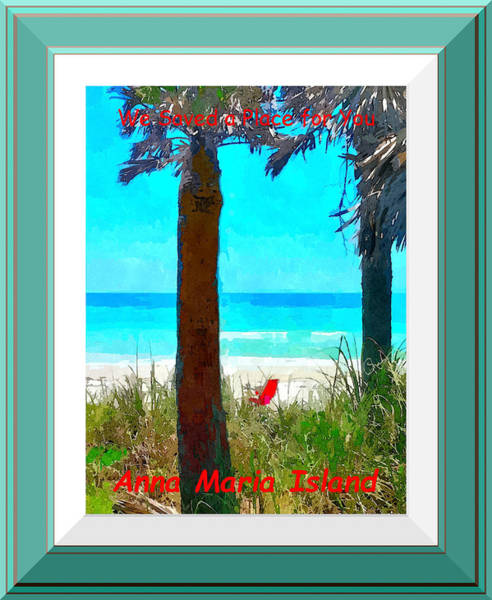 Photograph - We Saved A Place For You - Digitally Framed by Susan Molnar