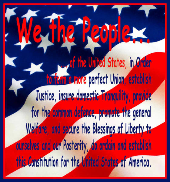 Photograph - We The People by Floyd Snyder