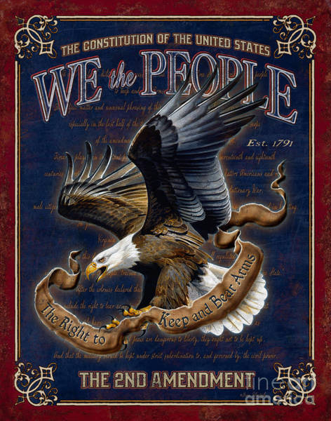 Painting - We The People by JQ Licensing