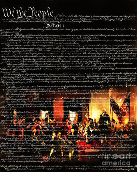 Photograph - We The People - The Us Constitution 20131220 by Wingsdomain Art and Photography