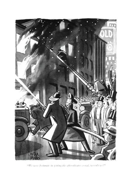 Drawing - We Were Fortunate In Getting The After-theatre by Peter Arno