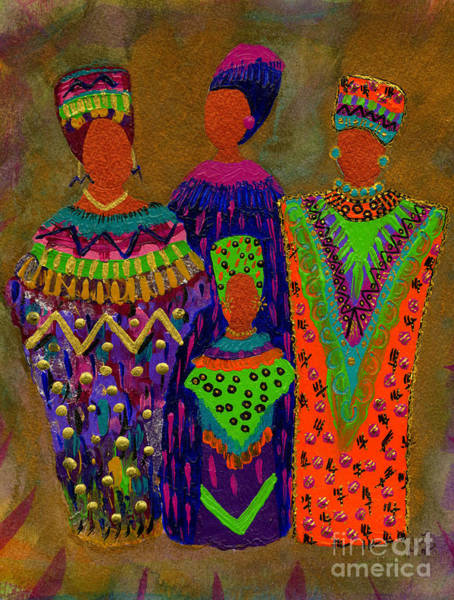 Wall Art - Painting - We Women 4 by Angela L Walker