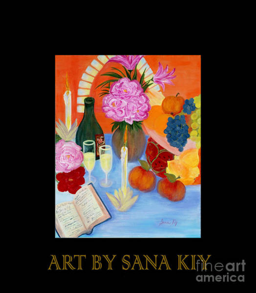Pink Champagne Painting - Wealth And Comfort. Soul Collection by Oksana Semenchenko