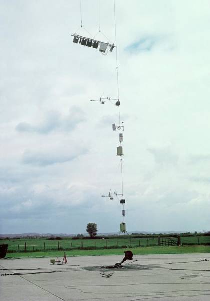Met Photograph - Weather Balloon Instruments by British Crown Copyright, The Met Office / Science Photo Library