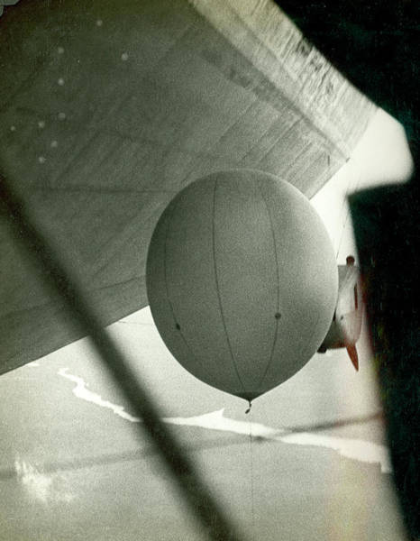 Graf Photograph - Weather Balloon Launch From Graf Zeppelin by Us Coast Guard
