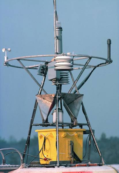Wall Art - Photograph - Weather Buoy Instruments by British Crown Copyright, The Met Office / Science Photo Library