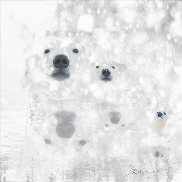 Digital Art - Weather Forcast - Snow - Featured In Cards For All Occasions Group by Ericamaxine Price