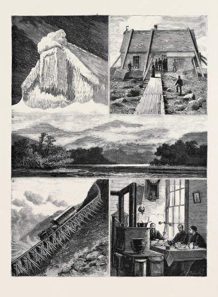 Railroad Station Drawing - Weather Forecasting In The United States 1 by American School