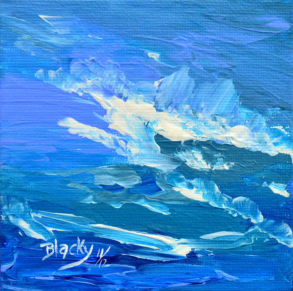 Wall Art - Painting - Weather Is Rolling In by Donna Blackhall