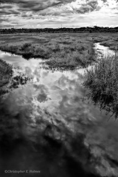 Photograph - Weather Reflected - Bw by Christopher Holmes