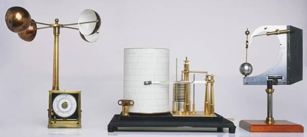 Pressure Wall Art - Photograph - Weather Station Equipment by Dorling Kindersley/uig