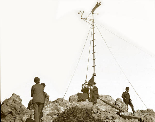 Photograph - Weather Station Mount Tamalpais Marin County California Circa 1902 by California Views Archives Mr Pat Hathaway Archives