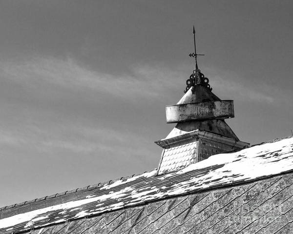 Rod Taylor Photograph - Barn Cupola And Weather Vane by Kent Taylor