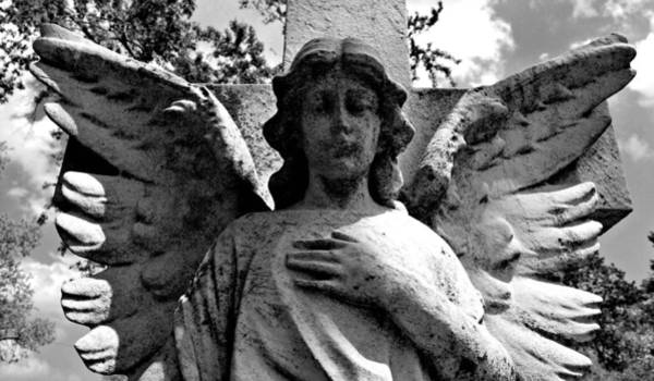 Photograph - Weathered Angel by Lora Mercado