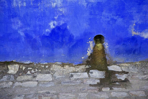 Photograph - Weathered Blue Wall Of Old World Europe by David Letts