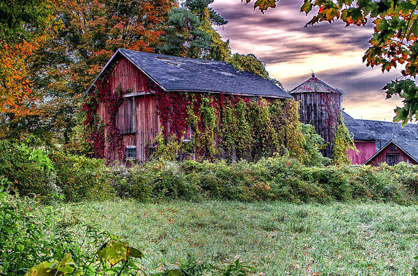 Photograph - Weathered Connecticut Barn by John Vose