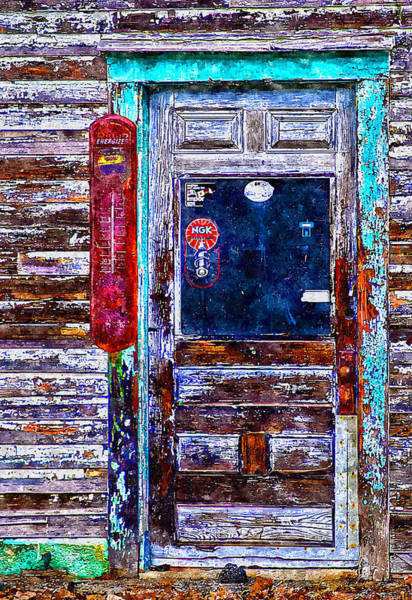 Painting - Weathered Door by Rick Mosher