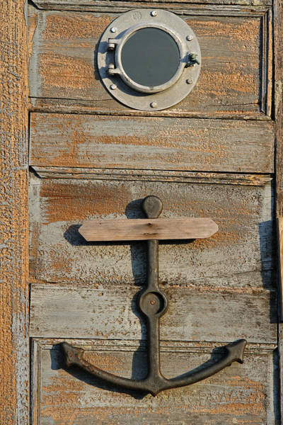 Photograph - Weathered Door With Anker by Juergen Roth