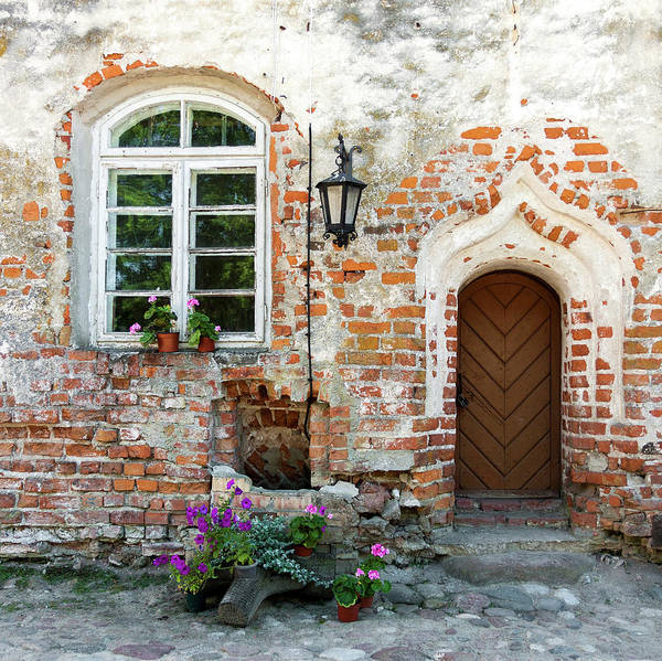 Brick Gothic Photograph - Weathered Entrance by Cebas