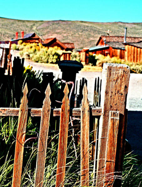 Photograph - weathered fence in Bodie by Joseph Coulombe