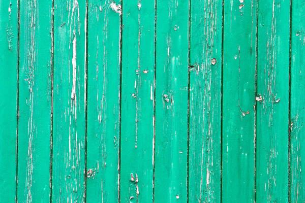 Closeup Wall Art - Photograph - Weathered Green Wood by Tom Gowanlock