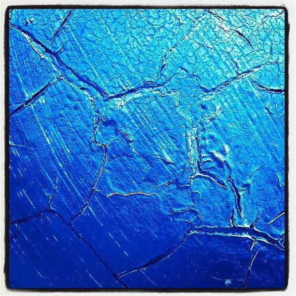 Abstract Photograph - Weathered In Blue by CML Brown