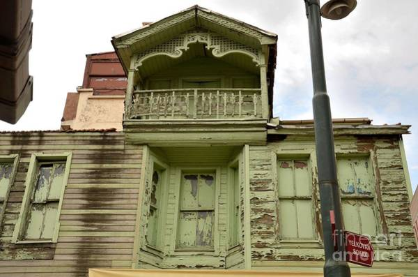 Photograph - Weathered Old Green Wooden House by Imran Ahmed