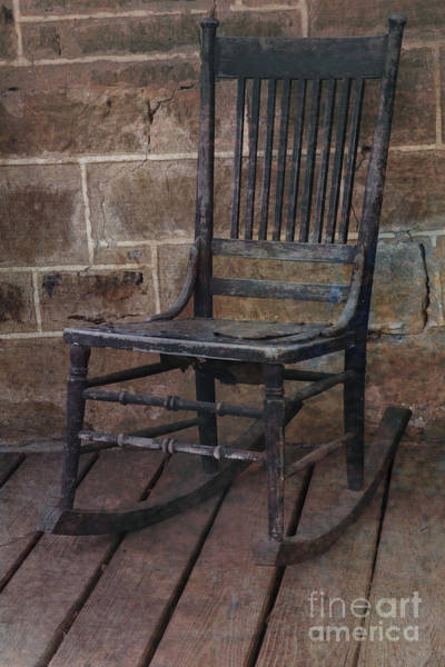 2014 Photograph - Weathered Rocking Chair by Bridget Calip