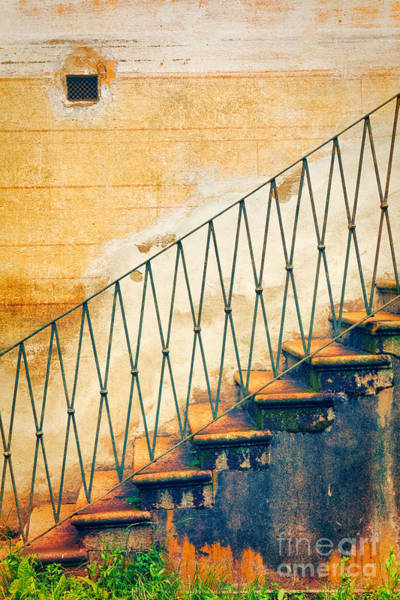 Baluster Wall Art - Photograph - Weathered Stairs And Wall by Silvia Ganora