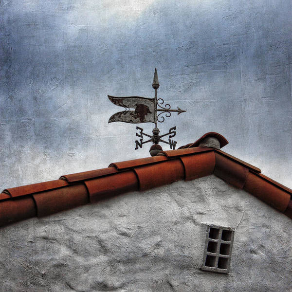 Roofs Photograph - Weathered Weathervane by Carol Leigh