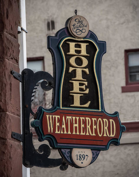 Photograph - Weatherford Hotel by Steven Lapkin