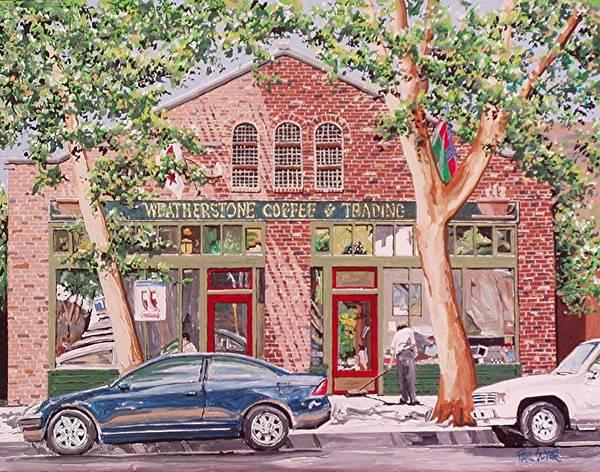 Weatherstone Coffee Art Print by Paul Guyer