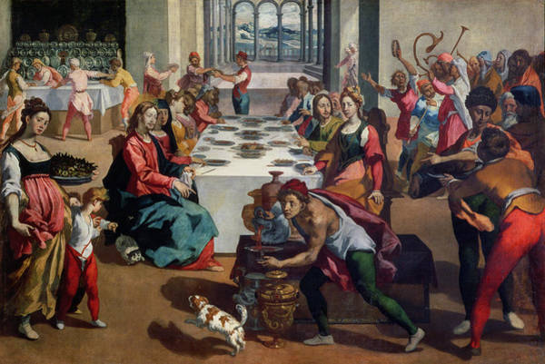 Feast Painting - Wedding At Cana by Andrea Boscoli