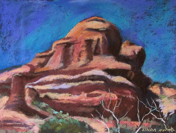 Painting - Wedding Cake Mountain by Linda Novick