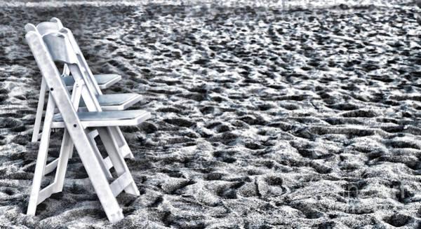 Photograph - Wedding Chairs In The Sand By Diana Sainz by Diana Raquel Sainz
