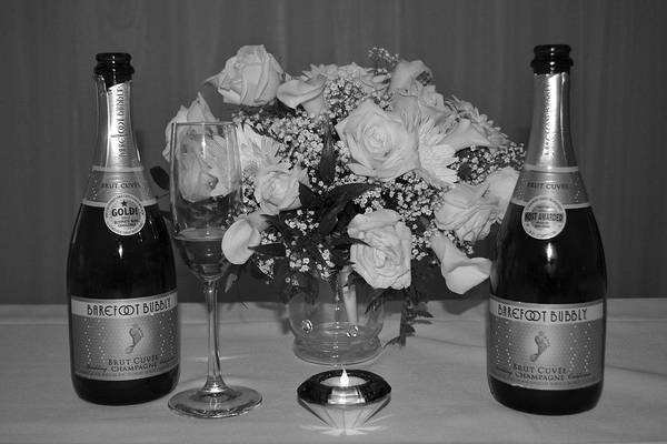 Wall Art - Photograph - Wedding Champagne by Frozen in Time Fine Art Photography