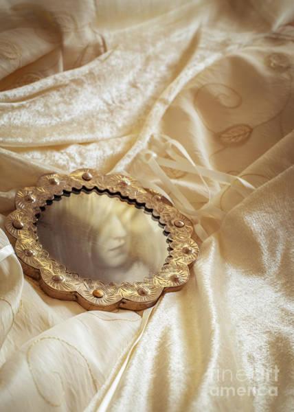 Wall Art - Photograph - Wedding Dress And Mirror by Amanda Elwell