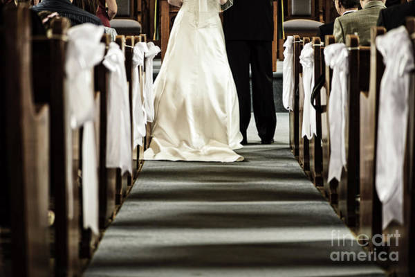 Partner Photograph - Wedding In Church by Elena Elisseeva