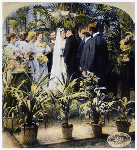 Vows Photograph - Wedding Party, 1897 by Granger