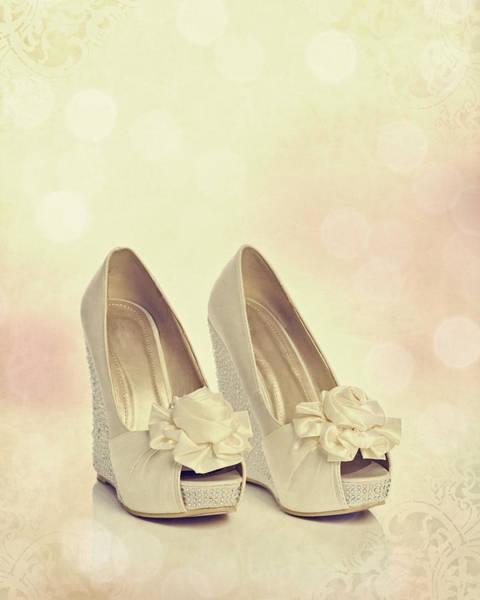 Bridal Photograph - Wedding Shoes by Amanda Elwell