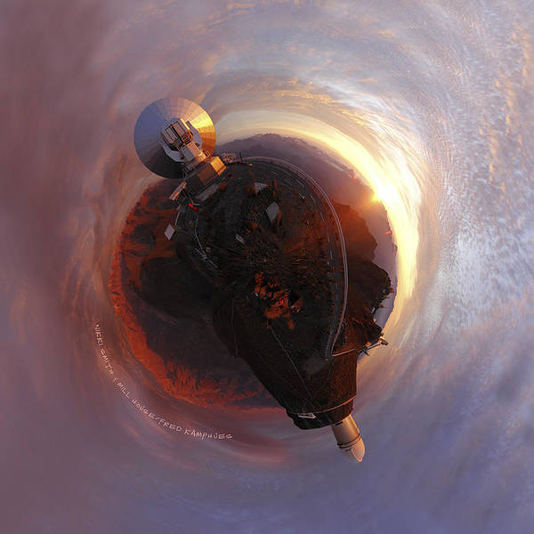 Photograph - Wee La Silla Cloudscape Planet by Nikki Marie Smith