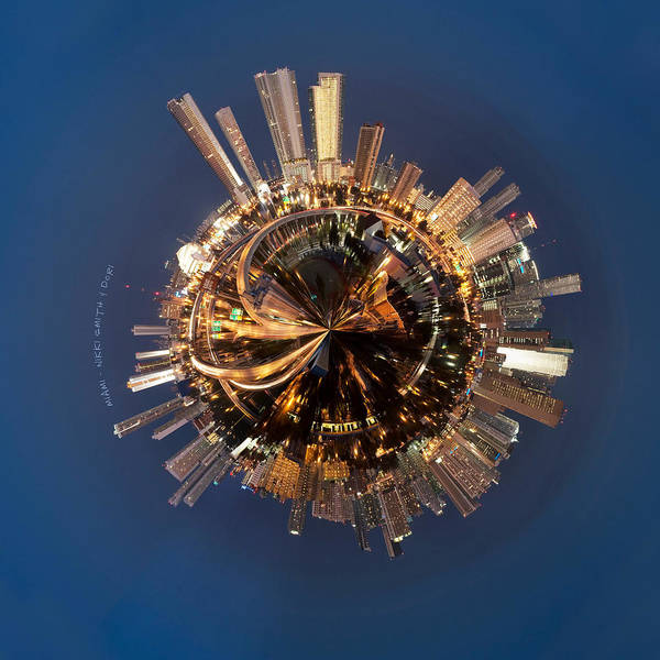 City Scape Photograph - Wee Miami Planet by Nikki Marie Smith