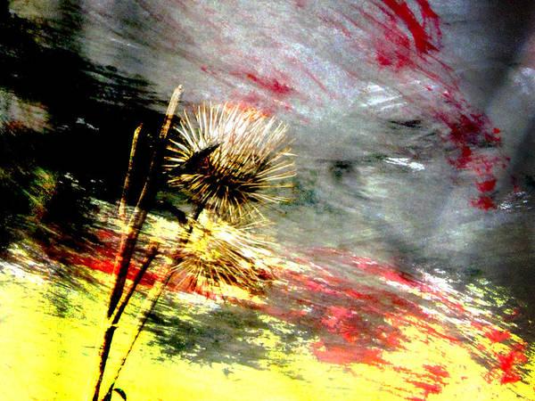 Digital Art - Weed Abstract Blend 2 by Anita Burgermeister