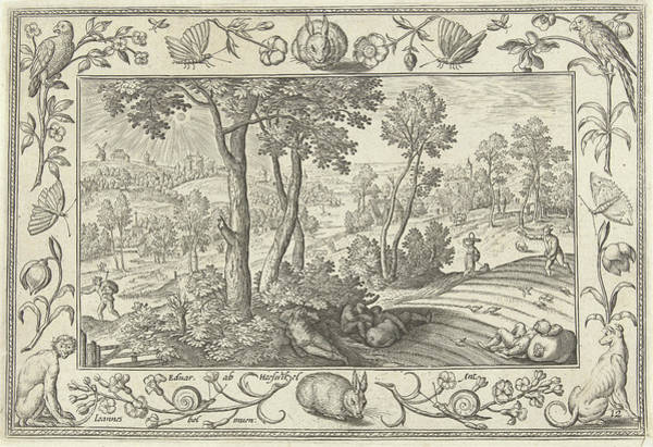 Weeds Drawing - Weeds Among The Wheat, Adriaen Collaert, Eduwart Hoes by Adriaen Collaert And Eduwart Hoes Winckel