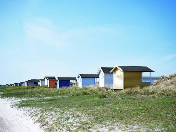Skane Photograph - Weekend Cottages On Beach by Johner Images