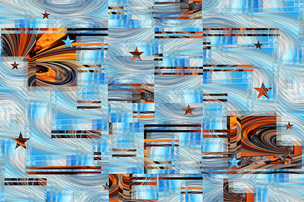 Digital Art - Weekend Stars - Abstract Art Rd by rd Erickson