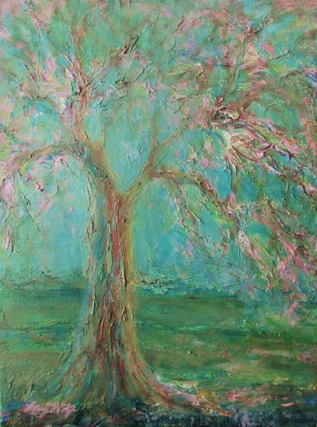 Painting - Weeping Cherry Tree by Mary Wolf