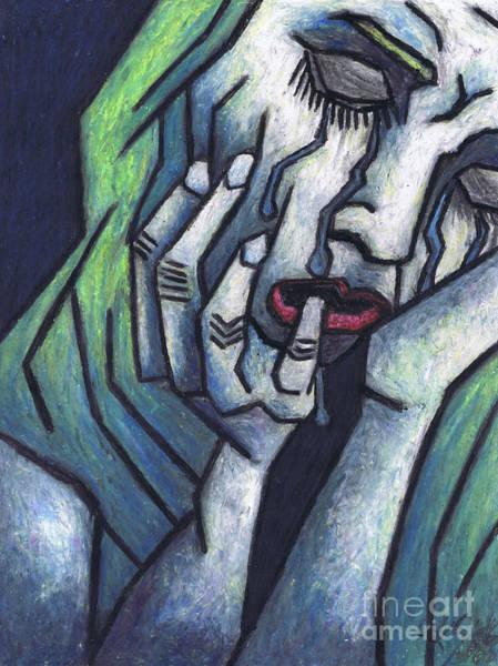 Wall Art - Painting - Weeping Woman by Kamil Swiatek