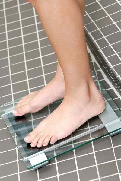 Anorexia Photograph - Weight Measurement by Lea Paterson/science Photo Library
