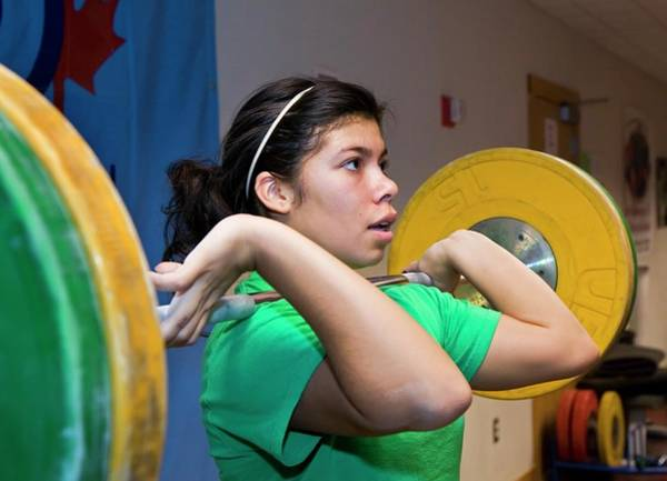Marquette Photograph - Weightlifter Training by Jim West